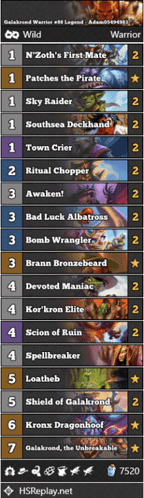 Galakrond Warrior #88 Legend - Adam05494983