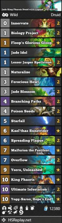 Jade King Pharois Druid #219 Legend - PETALUL3