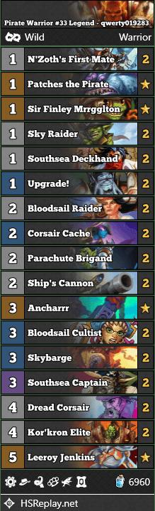 Pirate Warrior #33 Legend - qwerty019283