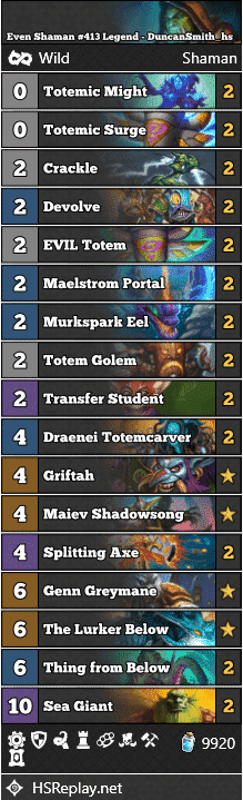 Even Shaman #413 Legend - DuncanSmith_hs