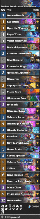 Reno Quest Mage #194 Legend - Dubiousscientist