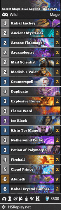 Secret Mage #122 Legend - ikeb0624