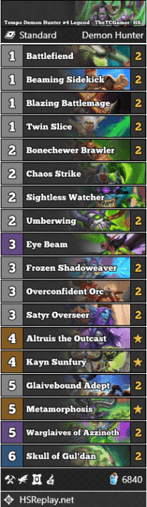 Tempo Demon Hunter #4 Legend - TheTCGamer_HS
