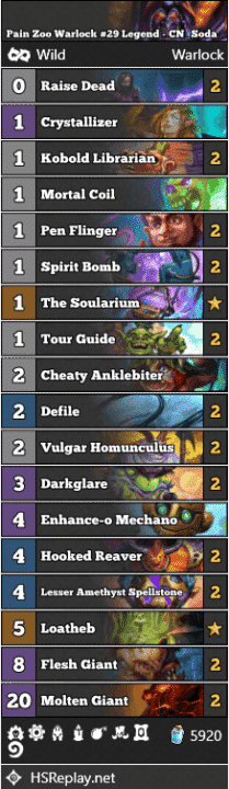 Pain Zoo Warlock #29 Legend - CN_Soda