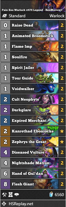 Pain Zoo Warlock #478 Legend - BenMorrow1