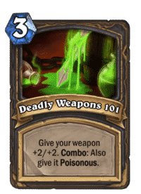 Deadly Weapons 101