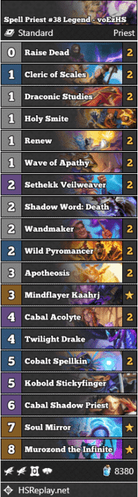 Spell Priest #38 Legend - voEzHS