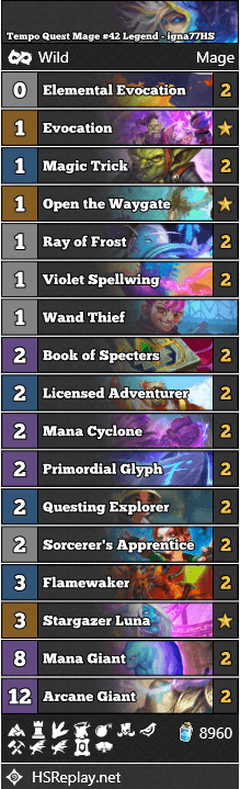 Tempo Quest Mage #42 Legend - igna77HS