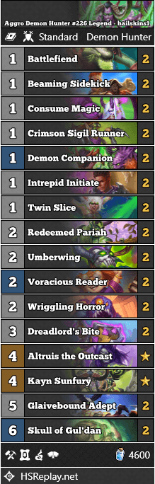 Aggro Demon Hunter #226 Legend - hailskins1