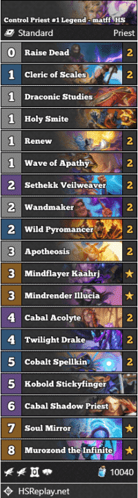 Control Priest #1 Legend - matff_HS