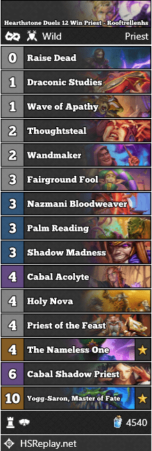 Hearthstone Duels 12 Win Priest - Rooftrellenhs