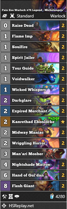 Pain Zoo Warlock #76 Legend - Michelangelo