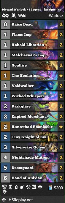 Discard Warlock #1 Legend - lasagne_hs