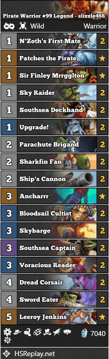 Pirate Warrior #99 Legend - slizzle466