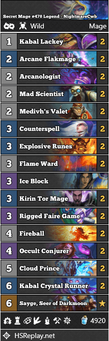 Secret Mage #478 Legend - NightmareCwb