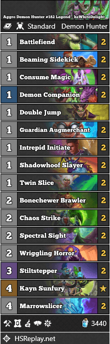 Aggro Demon Hunter #182 Legend - hsWhiteDelight