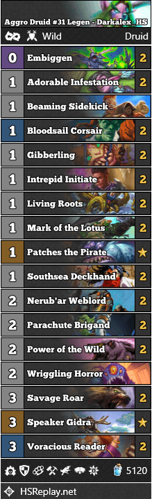 Aggro Druid #31 Legen - Darkalex_HS