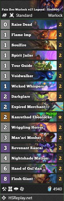 Pain Zoo Warlock #27 Legend - fire0804_
