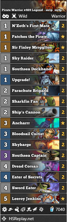 Pirate Warrior #469 Legend - sn1p_sn4p