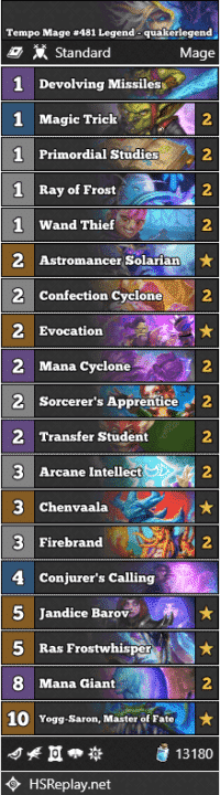 Tempo Mage #481 Legend - quakerlegend