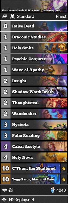 Hearthstone Duels 12 Win Priest - Ghostdog_HS