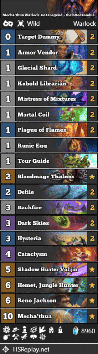 Mecha'thun Warlock #233 Legend - therottedzombie
