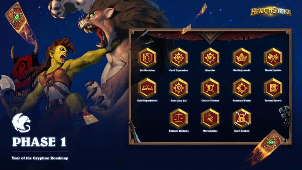 Hearthstone - Welcome to the Year of the Gryphon: Roadmap & Mercenaries
