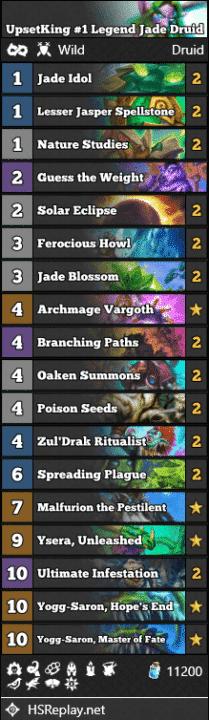 UpsetKing #1 Legend Jade Druid