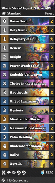 Miracle Priest #6 Legend - XilinhungHS