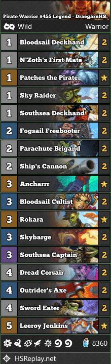 Pirate Warrior #455 Legend - DraegarnHS