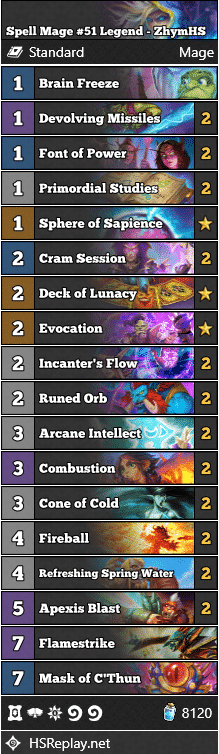 Spell Mage #51 Legend - ZhymHS
