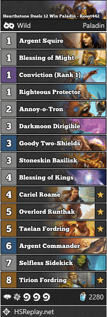 Hearthstone Duels 12 Win Paladin - Roost442