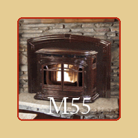 New for 2016 - M55 Pellet Fireplace Insert by Enviro