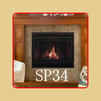 New for 2016 - SP34 Gas Fireplace by Kozy Heat