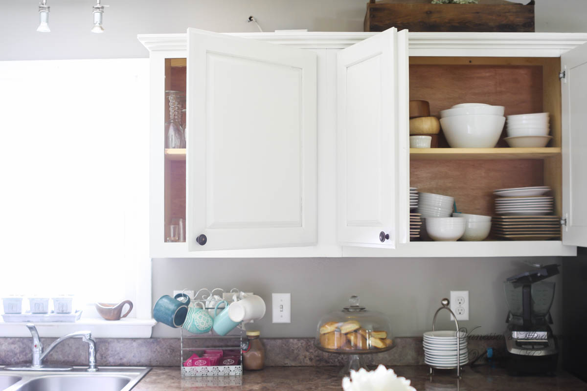 Without Painting Cabinets: Paint Kitchen Cabinets White In One Weekend Without