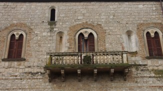 A balcony of the abbey of Santa Maria Arabona