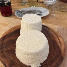 Two types of local ricotta