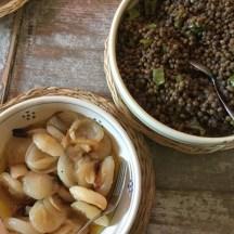 Carmelised onions & lentils