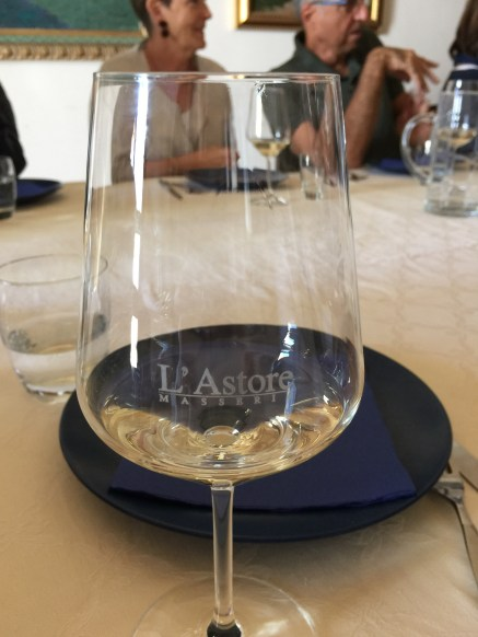 A crisp Fiano at Masseria l'Astore
