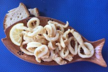 Fresh calamari at Castro, Salento