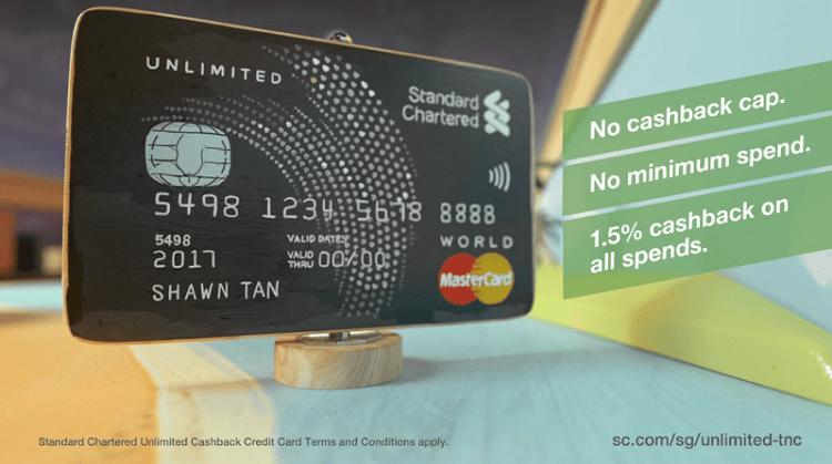 Standard Chartered Unlimited Cashback Credit Card