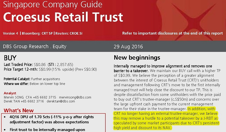 Should I Accept Blackstone Cash Offer For Croesus Retail Trust