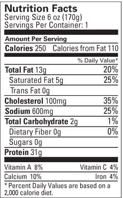 8 Oz Cooked Chicken Breast Nutrition : cooked, chicken, breast, nutrition, Chicken, Breast, Nutrition