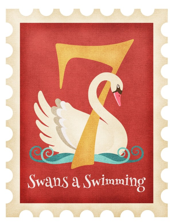 Christmas Seven Swans a Swimming