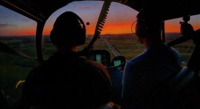 R44 night sunset