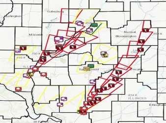 tornadoes Taylorville tornado Illinois