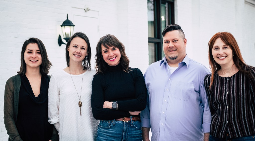 Heartland Therapy Connection team: Isabella Tambone, Jessica Horine, Chris Williams, Londonne Ayers, and Anna Saviano