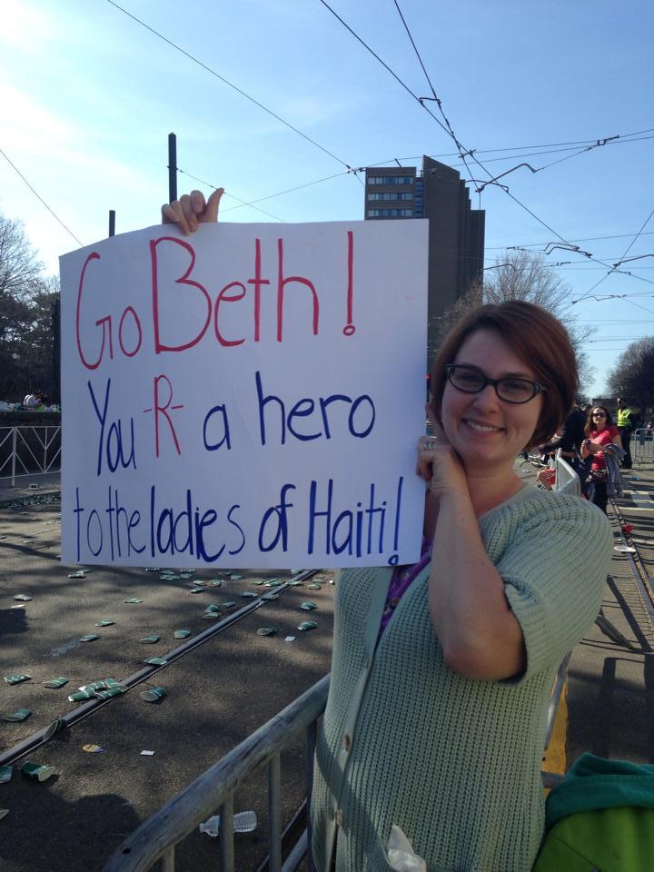 Cheering Beth