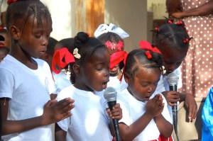 Children Praying In Haiti
