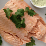 Poached Salmon with Mint Salsa
